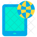 Tab Tablet Global Data Icon