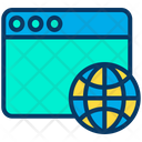 Web Webpage Global Data Icon