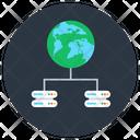 Global Dataserver Global Data Storage Worldwide Dataserver Icon