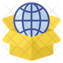 Global Delivery Worldwide Delivery Global Parcel Icon