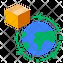 Globe Location Logistic Icon