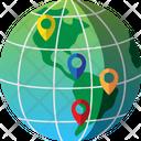 Destination Global Map Icon