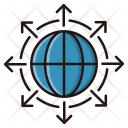 Direction Global Network Icon