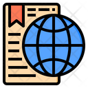 Worldwide Document Email Icon