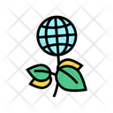 Global Ecology Green Global Plant Icon