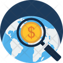 World Money Search Icon
