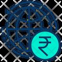 Global Rupees Globe Icon