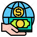 Global Currency Hand Icon