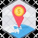Money Location Finance Icon
