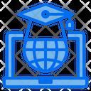 Graduate Globe Laptop Icon