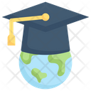 Global Education International Education Global Degree Icon