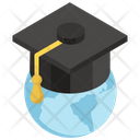 Global Education Worldwide Education Global Degree Icon