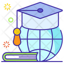 Global Education Overseas Learning Distance Education Icon