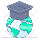 Global Education Global Degree Global Learning Icon