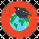 Global Education Distance Education Worldwide Education Icon