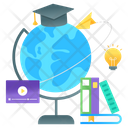 Global Education Worldwide Education International Education Icon