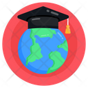 Global Graduation Global Education Global Learning Icon
