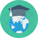 Global Education Mortarboard Icon