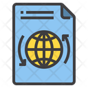 File World Exchange Global File International File Icon