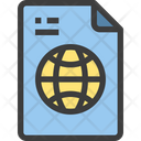 World Global File International File Icon