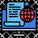 Computer File Globe Icon