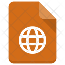 Globe File Document Icon