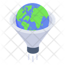 Global Funnel Earth Filtration Global Filtration Icon