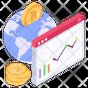 Financial Web Global Finance Economy Icon
