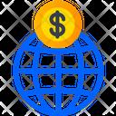 Global Finance Global Economic International Icon