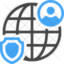 Global Firewall Protection Security Icon