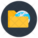 Global Folder Worldwide Folder Global File Icon