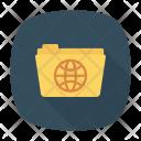World Folder Globe Icon