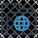 Globe Folder Archive Icon