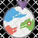 Global Navigation Navigation Map Geographic Navigation Icon