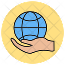 Global Hand Icon