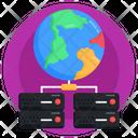 Global Data Storage Global Storage Global Hosting Icon