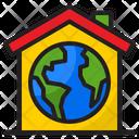 Global House Eco House Home Icon