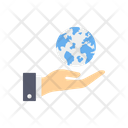 Global Investment Investment Hand Icon