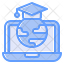 Global Learning Online Education Online Study Icon