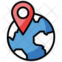 Global Location Global Access Network Location Icon