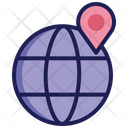 Global Logistics Global Location Geographical Location Icon