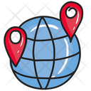 Global Location Global Direction Navigation Icon