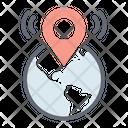 Global Location Globalization Geolocation Icon