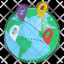 Global Location Worldwide Location Globalization Icon