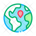 Earth Planet Topography Icon