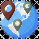 Global Location Gps Navigation Icon
