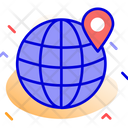 Location Map Globe Icon