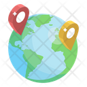 Global Location Destination Worldwide Location Icon