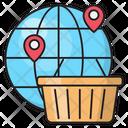 Cart Shopping Global Icon