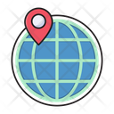 Location Map Global Icon